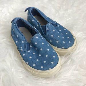 GAP Shoes - 🌸2/$10 SALE🌸Baby Gap Blue Polka Dot Sneakers-5